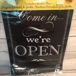 "Other - NWT ""Open/Closed"" flag or business door sign"